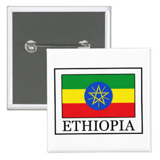 Botón de Etiopía Pin Cuadrado