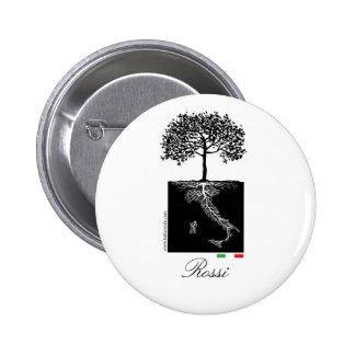 Botón de Famiglia Italiana Pin Redondo De 2 Pulgadas