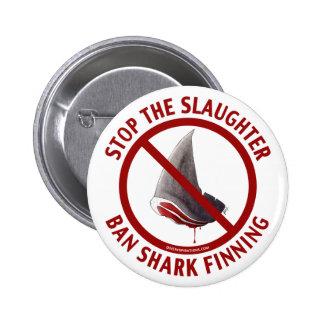 Botón de Finning del tiburón de la prohibición Pin