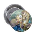 """Botón de """"Fiona y del unicornio"""" Pin Redondo De 2 Pulgadas"""