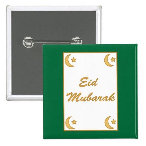 Botón de Fitr del al de Eid Mubarak Eid Pin