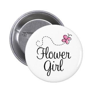 Botón de Flowergirl del boda Pins