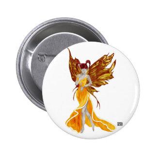 Botón de Flutterby Fae (rayo de sol) Pin Redondo De 2 Pulgadas