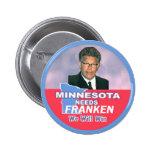 Botón de Franken del Al Pin Redondo De 2 Pulgadas