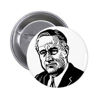 Botón de Franklin Delano Roosevelt Pin Redondo De 2 Pulgadas