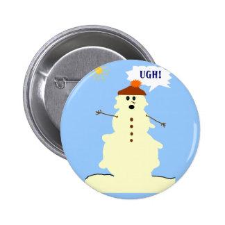 botón de fusión del muñeco de nieve pin redondo de 2 pulgadas