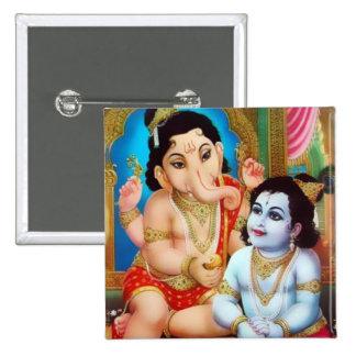 Botón de Ganesha y de Kartikeya Pins