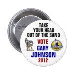 Botón de Gary Johnson 2012 Pin