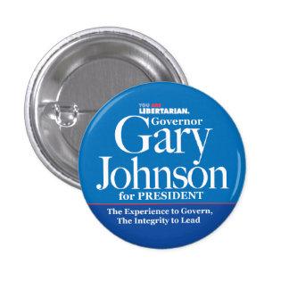 Botón de Gary Johnson Pin Redondo De 1 Pulgada