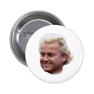 Botón de Geert Wilders Pin Redondo De 2 Pulgadas