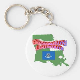 Botón de Geocaching Luisiana Llavero Redondo Tipo Pin