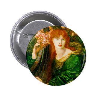 Botón de Ghirlandata del La de Dante Gabriel Rosse Pin