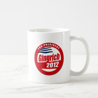 Botón de Gingrich 2012 Taza De Café