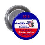 Botón de Gingrich Bachmann Pins