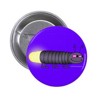 Botón de Glowworm que camina Pin Redondo De 2 Pulgadas