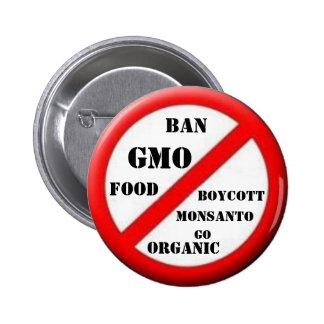 Botón de GMO de la prohibición Pin