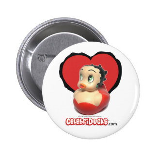 Botón de goma del pato de Betty Boop