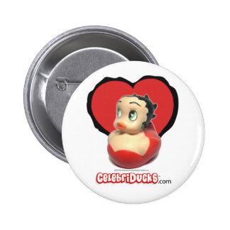 Botón de goma del pato de Betty Boop Pins