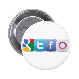 Botón de GTFO Pin Redondo De 2 Pulgadas