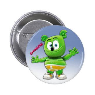 Botón de Gummibär en azul Pin Redondo De 2 Pulgadas