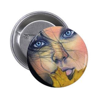 Botón de hadas del botón de Samhain Pin Redondo De 2 Pulgadas