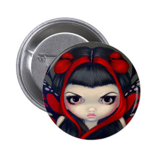 Botón de hadas rojo gruñón pins