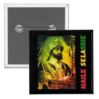 Botón de Haile Selassie Pin Cuadrado