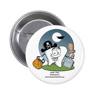 Botón de Halloween con los apoyos Pin Redondo De 2 Pulgadas