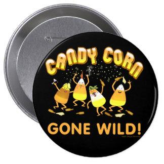 Botón de Halloween de las pastillas de caramelo Pin Redondo De 4 Pulgadas