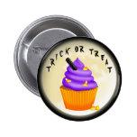 Botón de Halloween del truco o de la invitación Pins