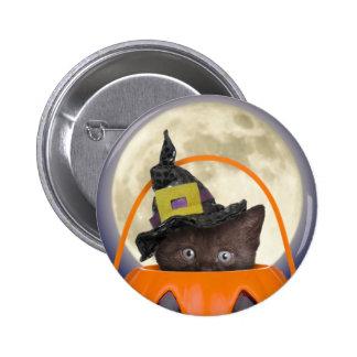 Botón de Halloween del truco o de la invitación Pin