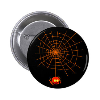 Botón de Halloween del Web de araña