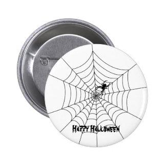 Botón de Halloween del Web de araña Pin Redondo De 2 Pulgadas