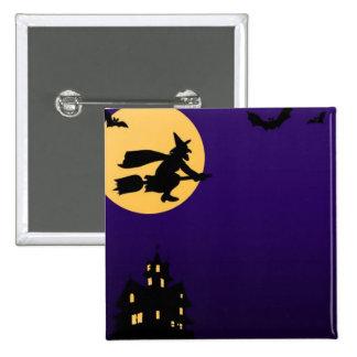 Botón de Halloween Pin Cuadrado