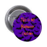 Botón de Halloween - traje de los palos Pin