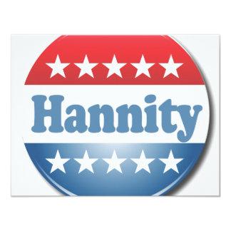 """Botón de Hannity Invitación 4.25"""" X 5.5"""""""