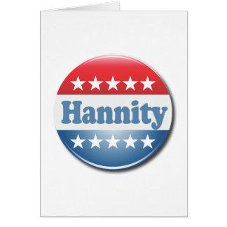 Botón de Hannity Tarjeta De Felicitación