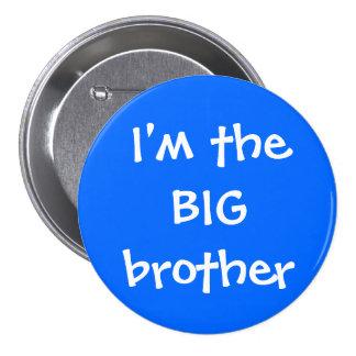 Botón de hermano mayor pin redondo de 3 pulgadas