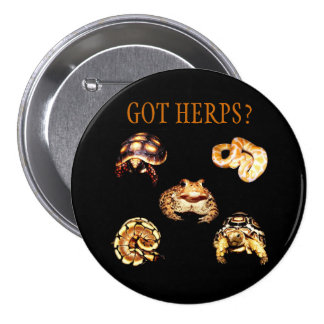 Botón de Herps Pin Redondo De 3 Pulgadas