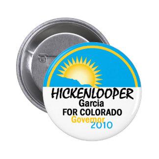 Botón de Hickenlooper García 2010 Pin Redondo De 2 Pulgadas