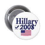 Botón de Hillary 2008 Pin