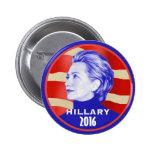Botón de Hillary 2016 Pin