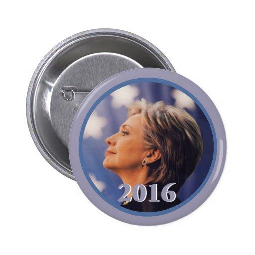 Botón de Hillary 2016 Pin Redondo De 2 Pulgadas