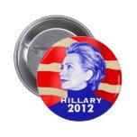 Botón de Hillary Clinton 2012 Pin