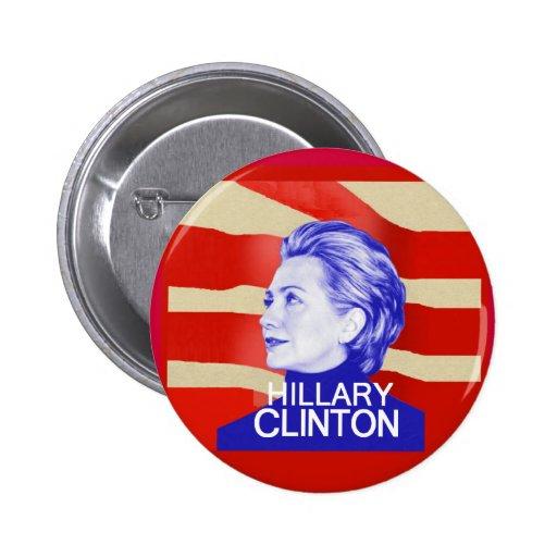 Botón de Hillary Clinton Pins