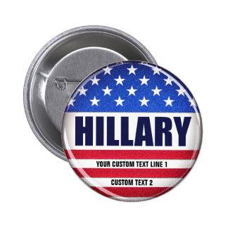 Botón de Hillary del voto Pin Redondo De 2 Pulgadas