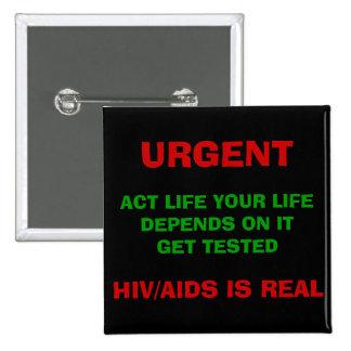 Botón de HIV/AIDS AWAREESS - modificado para requi Pin