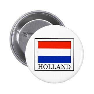 Botón de Holanda Pin Redondo De 2 Pulgadas