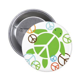 Botón de Honu de la paz Pin Redondo De 2 Pulgadas