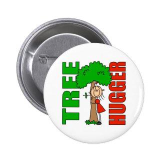 Botón de Hugger del árbol Pin Redondo De 2 Pulgadas
